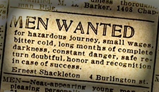 Shackleton Job Ad