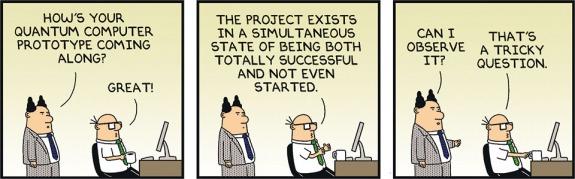 Dilbert on quantum computing